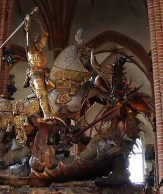 St. George and the Dragon. Storkyrkan, Stockholm. Wikipedia Commons.