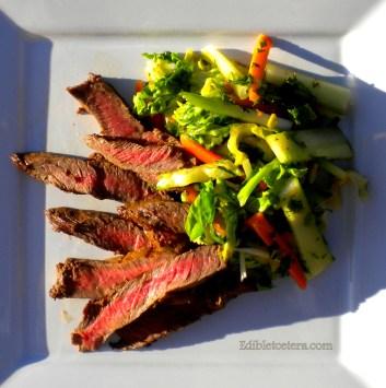 Asian Flatiron Steak Salad with a Lemongrass Dressing