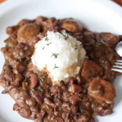 A traditional red beans and rice recipe + wash day in New Orleans