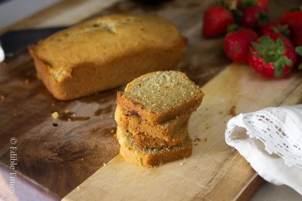 lemon pound recipe (gluten-free) from Edible Times