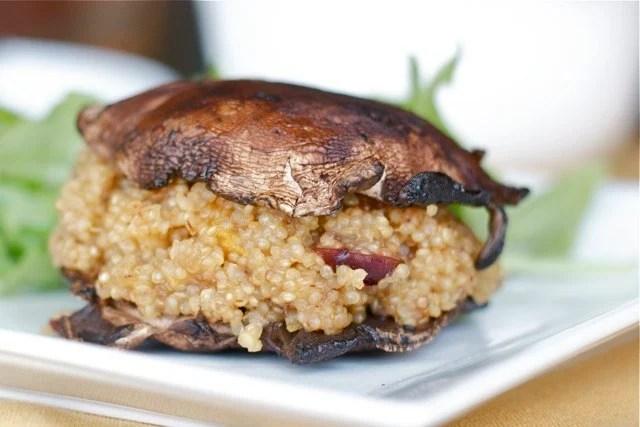 Portabella mushroom burger recipe from Edible Times