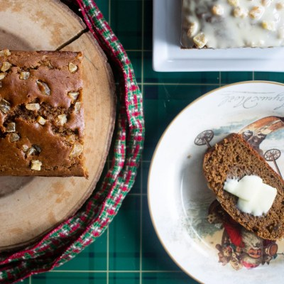 My ultimate gingerbread loaf, insanely easy to bake (and can be GF!)