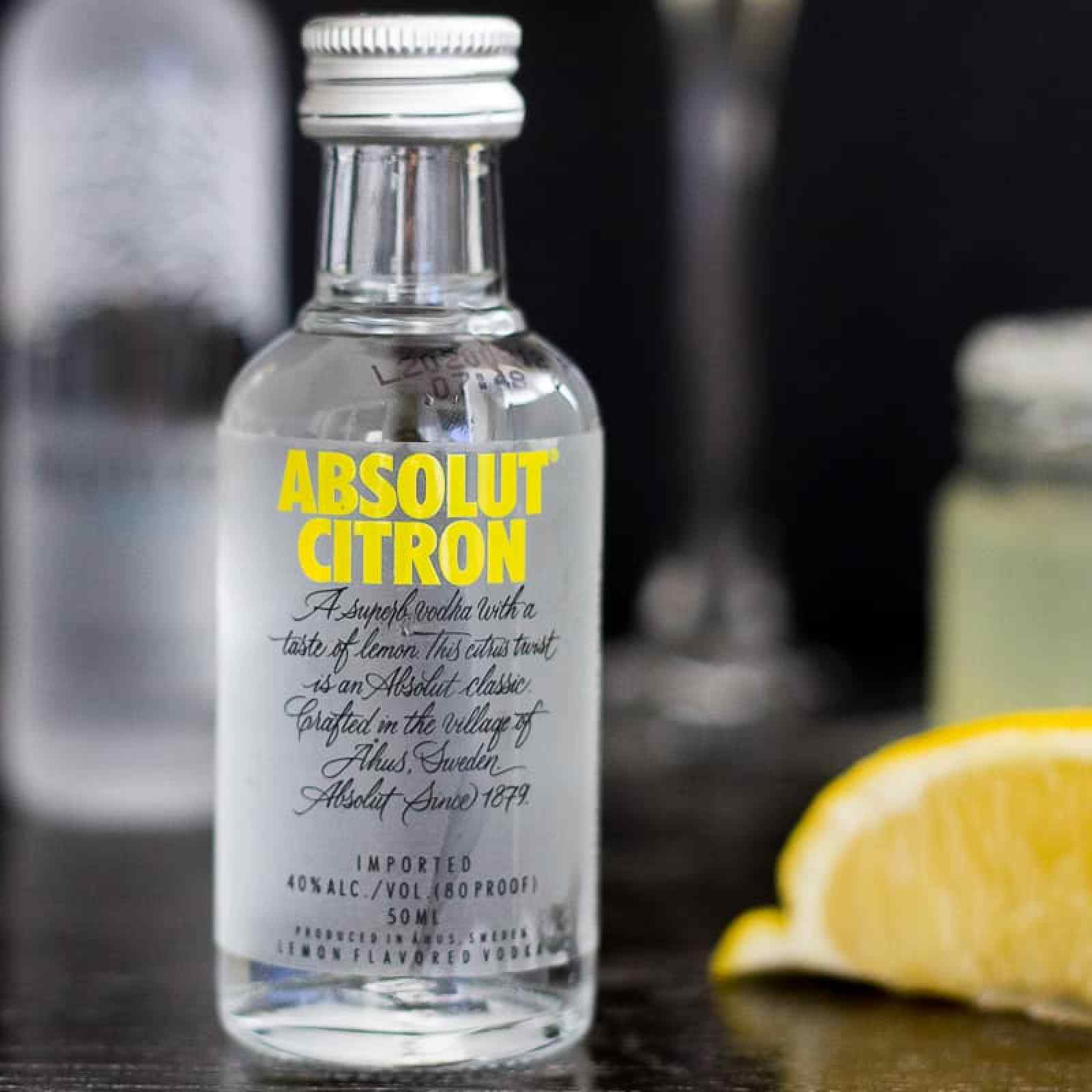 Absolut Citron vodka for lemon drop cocktail