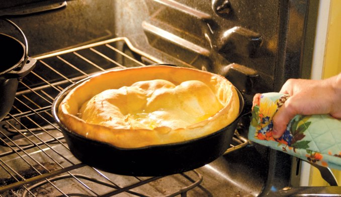 Cast Iron Skillet Dutch Baby | Edible Upcountry