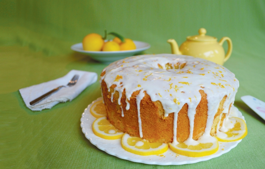 Image result for images of a lemon chiffon cake