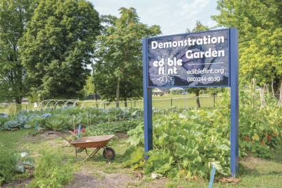 edible flint demonstration garden