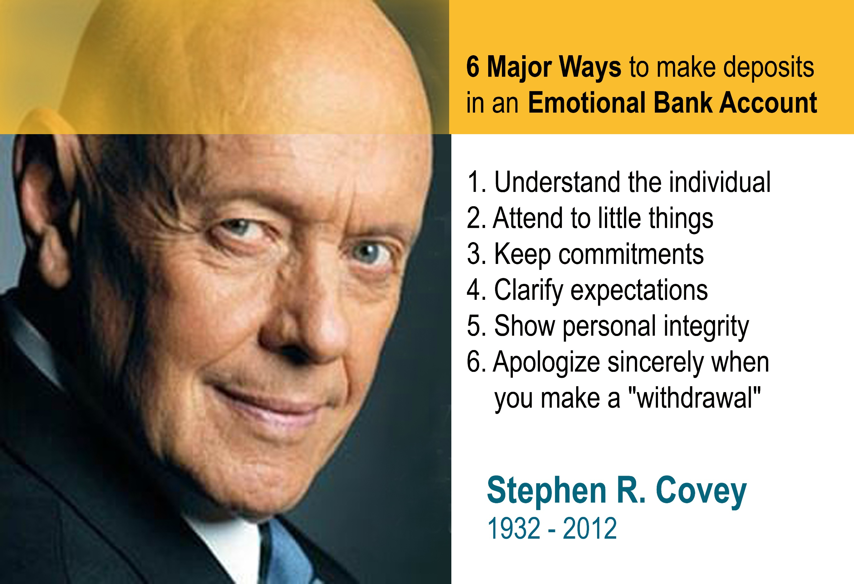 What I Learned From Stephen Covey About Emotional Banking