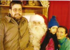 Con su familia, Ana María Tiemann viajó a Finlandia a festejar Navidad con Santa Claus