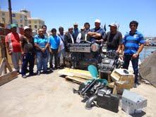 Pescadores de Caleta Guardiamarina Riquelme reciben  motores para embarcaciones