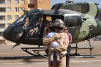 Ejército evacua desde Huatacondo a niño con severa deshidratación