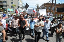 Pesqueros continúan movilizados: Hoy marcharon por centro de Iquique
