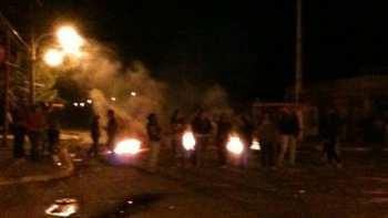 Taco gigantesco en zona central, por protestas de vecinos de poblados de Rancagua