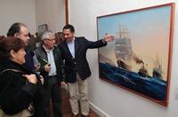 Obras  de pintor iquiqueño  Carlos Tan en Sala de Arte Collahuasi Pica