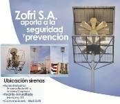 ZOFRI probará sus sirenas de emergencia el domingo 12