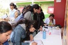 Estudiantes de la Facultad de Salud de la UNAP, participan en colecta de sangre