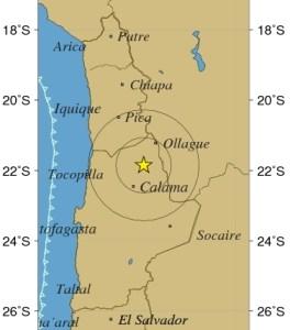 Temblor de mediana intensidad en regiones de Tarapacá, Antofagasta y Atacama
