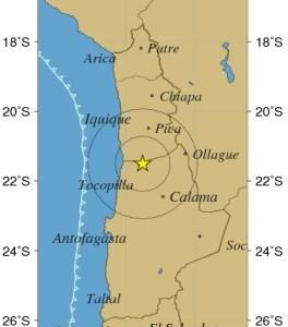 4.8 grados Richter marcó sismo de esta noche de jueves, con epicentro en localidad de Quillagua