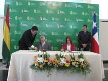 Tarapacá y  Departamento Autónomo de Santa Cruz, Bolivia, suscriben acuerdo