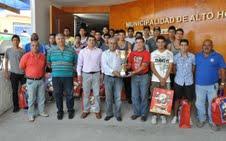 implementación deportiva para jugadores de Municipal Alto Hospicio