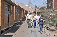 Comienza traslado de familias damnificadas a viviendas de emergencia