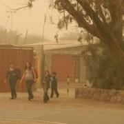 Lloviznas en poblados y tormenta de arena en Pozo Almonte afectó a población