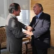Temas de interés bilateral analizaron intendente de Antofagasta y alcalde Jorge Soria