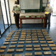 Carabineros de huara incautó 88 kilos de drogas