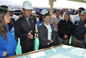 Constatan avances  en un 25% de obras para cierre de lagunas de estabilización en El Boro