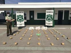 Carabineros detiene una banda de asaltantes e incautó 51 kilos de droga en Alto Hospicio