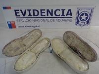 Aduanas detecta zapatillas y parlante con droga en avanzada el Loa