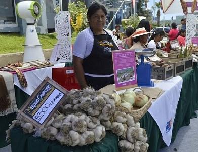Productores agrícolas locales y artesanos, exponen sus productos fortaleciendo la identidad cultural