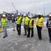 Subsecretario de Transportes recorrió instalaciones portuarias para supervisar proceso de reconstrucción del terminal