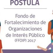 Atención organizaciones sociales. Amplían plazo ara postular a Fondo de Fortalecimiento 2017