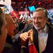 Jorge Soria asiste a proclamación presidencial de Alejandro Guillier y destaca el enfoque regionalista que ambos comparten