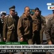 Informa prensa boliviana sobre restitución de los dos carabineros chilenos detenidos en la frontera