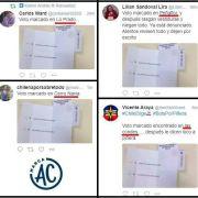 Milagro: voto «marcado» de la misma serie aparece en Peñaflor, Lo Prado y Las Condes
