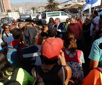 Llegada del Senador Jorge Soria a Iquique, ya como congresista, se hizo notar