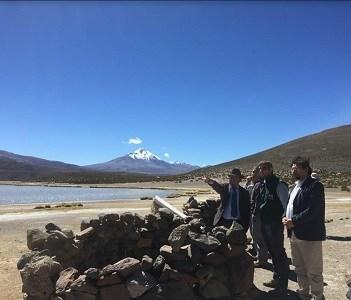 Hasta el Parque Volcán Isluga llegan autoridades para promover cuidado del Patrimonio Natural