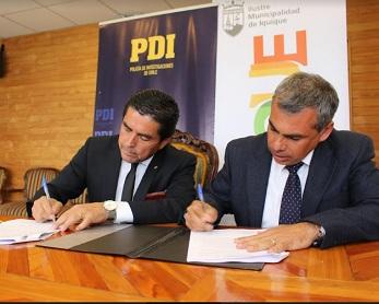 IMI Y PDI firman compromiso para una mayor seguridad en la comunidad iquiqueña