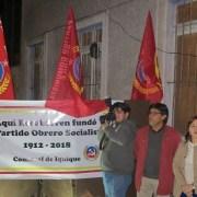 En Barros Arana 96, en el lugar donde se fundó el Partido Obrero Socialista, comunistas iniciaron festejos por sus 106 años