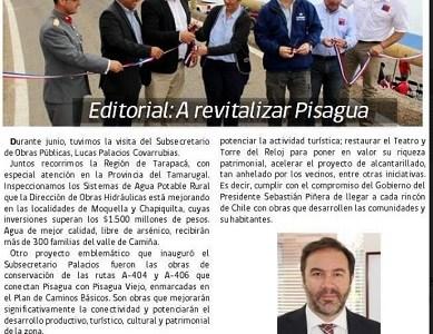 Autoridades gubernamentales en reciente visita a Pisagua, repiten promesas realizadas en el 2013
