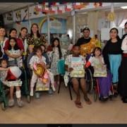 Niños hospitalizados en la sección de Pediatría, también tuvieron su fiesta dieciochera