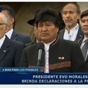 La Razón de Bolivia: Morales destaca invocación de la CIJ a continuar el diálogo y asegura que Bolivia no renunciará a su retorno al mar