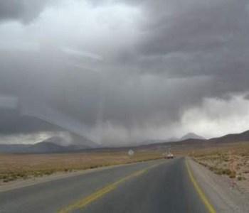 Se declara Alerta Temprana Preventiva para la Provincia del Tamarugal por precipitaciones y tormenta aléctrica