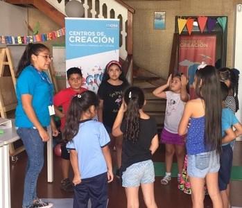 """Partieron los """"laboratorios creativos"""" que convocan a niños, niñas y jóvenes de 7 a 19 años de Iquique"""