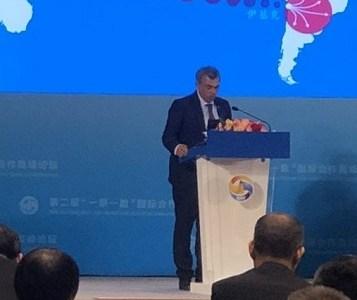 Alcalde Mauricio Soria, único edil chileno presente en el Foro Internacional más importante del mundo, que se realiza en China
