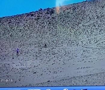 Nuevamente sorprenden a turistas extranjeros Dañando al patrimonio nacional, Gigante de Tarapacá