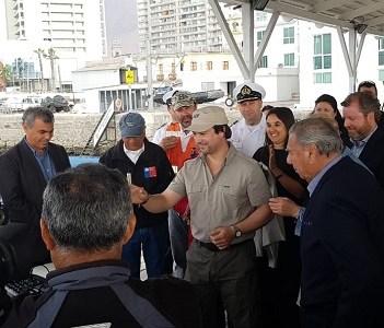 Ante subsecretario de Obras Públicas y autoridades nuevamente el senador Soria y el alcalde salen en defensa de Iquique y necesidad de contar con un puerto competitivo