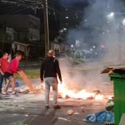 Barricadas en distintos sectores en el sector de la ciudad se registraron en la noche del viernes y primeras horas de la madrugada