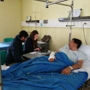 Jefa de la Unidad Regional de Víctimas y Testigos y el fiscal se constituyeron en hospital regional de Iquique para tomar declaraciones a reportero gráfico
